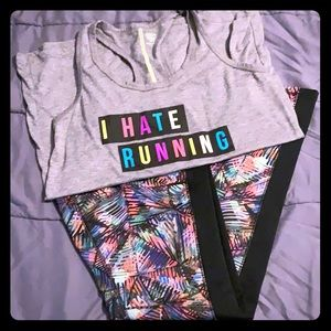 Workout leggings and tank